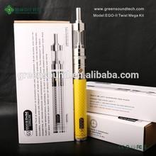 Vapor Wholesale EGO II Twist mega kit china ecig best refillable vape tanks dry herb vaporizer vape pen