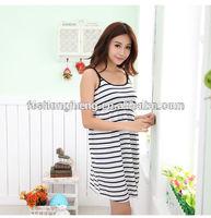 BK028 wholesale black stripe classic style high end maternity evening dresses