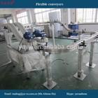Aluminium flexible chain belt conveyor machine