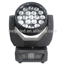 pro rainbow effect 19x12w 4in1 LED Beam Zoom Moving Head Light china top ten selling products