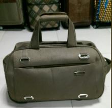 nylon make up trolley case bowling bage stock luggage bag