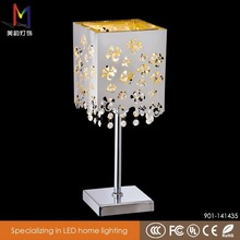 Carve patterns room lamp/A unique metal base table lamp/hotel crystal lamp with CE/Rohs
