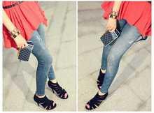 New elastic jeans women style popular Skinny Jeans Destroyed selvedge cheap skinny jeans for men