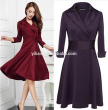 fashion Korean ladies latest design office wear dress