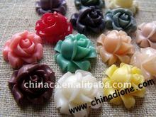 2015 Flower Cabochon Mix Assorted Resin Flower Cabochon flatback resin icecream