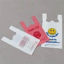 Cheap Happy Face Plastic Direct Manufacturer Vest T-Shirt Bag