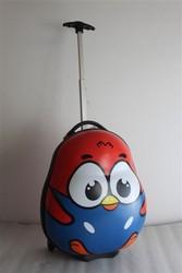 lovely chicken design egg shape kids trolley bag
