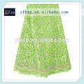 2015 arrial nuevo multi verde color bordado disolución de agua química africana de guipur cordón cuerda