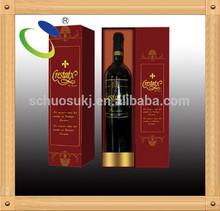 Item HSP13 carton made wine bottle bag,carton wine box