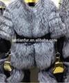 De alta calidad de piel de zorro abrigo/plata fox fur coat/abrigos de invierno para las mujeres
