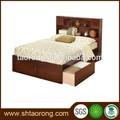 moderna madeira maciça cama com gavetas