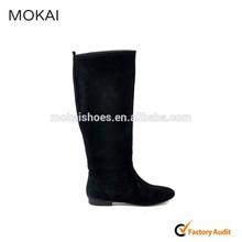 MK047-12-black boots Guangzhou shoes factory