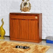 strong waterproof vintage walnut wooden furniture shoe cabinets shoe racks for storage display simple designs on sale