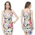 Caráter catoon impressão digital vestido mulheres 2015, fábrica de roupas direto alibaba atacado vestido