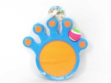 2015 hot sale sport toy hand shape racket toy funny plastic suction ball EB030154