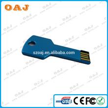 key shape usb flash drive with customize company LOGO print