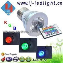 E27 led bulb RGB remote control led spot bulb light 3W 16 color for Bars KTV Club House