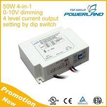 FSP-Powerland 50W 1050mA 1400mA 1750mA 2100mA 4-in-1 0-10V Dimmable Led Driver