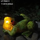 Good design solar garden lamp frogs with panel solar from China