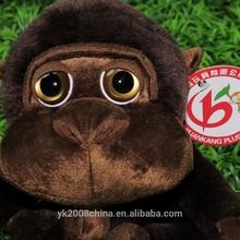 High quality plush animal toy names monkey big eye plush monkey