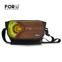 Innovative Kiwi Fruit Waterproof Kid Long Strap Bag Shoulder Messenger Bag