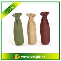 Custom Eco-friendly Jute Wine Bottle Bag Pattern