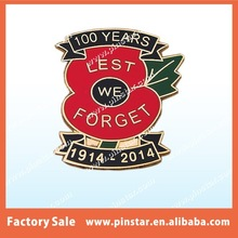 REMEMBRANCE POPPY RELATED - THE GREAT WAR - LAPEL BADGE/TIE PIN