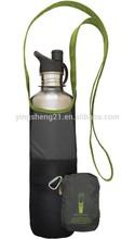 Folded Bottle Sling Bag with Pouch Hydration Packs One Shoulder Hiking Bag
