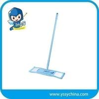 washable & reusable mop pads Mop steel pole microfiber flat mop