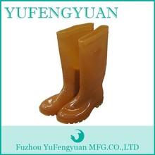 custom made men clear pvc rain boots