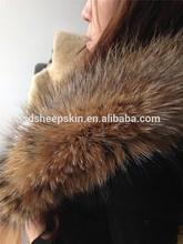 100% Genuine Real Trimming Natural Raccoon Fur Vest