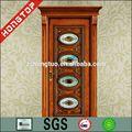 Caoba Exterior de China puertas de madera maciza