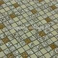 stile libero prezzo a buon mercato cristallo delle mattonelle di mosaico di vetro in ceramica da rivestimento 15x15