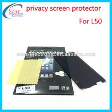 Anti-peep, anti-peek, anti-scratch privacy screen protector mobile phone accessories for LG L50