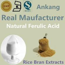 99% ferulic acid CAS 1135-24-6 , natural rice bran extract, natural 99% ferulic acid