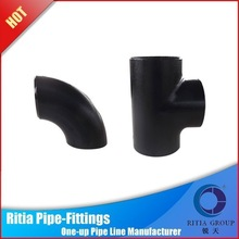 black painting a234 wpb butt welded ansi b16.9 pipe fitting