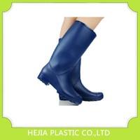 blue rain boots work galoshes high heels women rubber rain boots