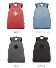 fancy pure color school bag backpack for girl