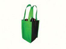 Customized jute wine tote bag