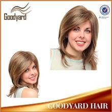 In Stock fashion wavy short kanekalon heat resistant synthetic wig
