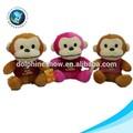 Venda quente recheado de pelúcia brinquedo macaco de pelúcia colorido macaco nomes