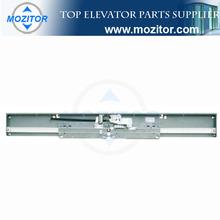 Two Panels Center Opening Full Glassc Landing Door | emergency landing device for elevator | elevator door header
