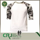 Casual Raglan Mens 3/4 Sleeve Two Tone T-Shirt Baseball Cotton Jersey