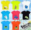 Cute carton children baby kids short sleeve animals t shirt,baby top tees t shirt for kids clothes