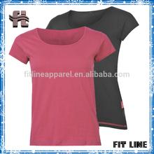 Custom high quality new design t shirts for women, 100%cotton girls t shirts
