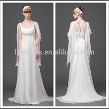 A-Line Floor Length Square Neck Speghette Strape White Customized Satin Bridal Gowns Wedding Dresses WDZ020 Bride Dresses