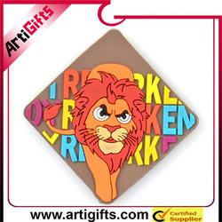 Customized design soft pvc souvenir bag fridge magnet