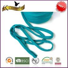 blue color T shirt yarn hand dyed hand knitting crochet yarn for knitting bag