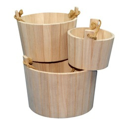 Best selling water-proof small wooden patio ice bucket
