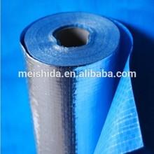 Aluminum Foil laminated PE Woven Fabric with blue coating